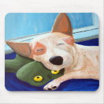 Pintura de abrazo roja de la rana de Heeler Tapete De Ratón