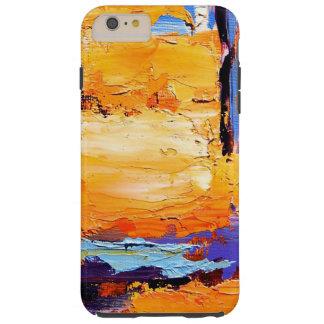 Pintura de aceite abstracta 1 funda para iPhone 6 plus tough