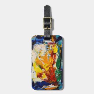 Pintura de aceite abstracta 3 etiqueta de maleta