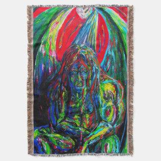 Pintura de aceite coa alas Fi de la criatura de Manta