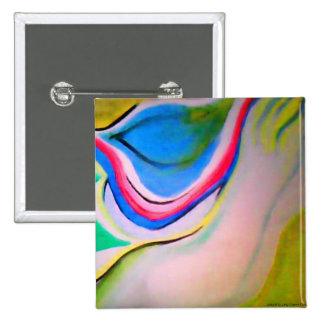 Pintura de acrílico abstracta de la ondulación pin cuadrada 5 cm