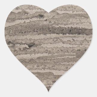 Pintura de acrílico abstracta original del borde pegatina en forma de corazón