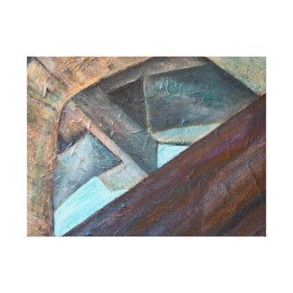 Pintura de acrílico contemporánea del tejado del impresión en lienzo