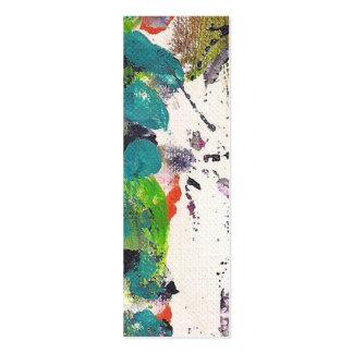 Pintura de acrílico de la tarjeta flaca por Kismae Tarjetas De Visita Mini