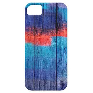 Pintura de acrílico de madera del vintage iPhone 5 carcasas