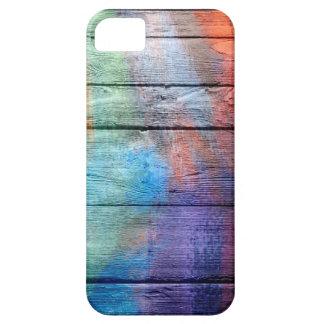 Pintura de acrílico de madera iPhone 5 fundas