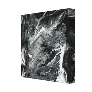 Pintura de acrílico de mármol blanco y negro impresion en lona