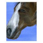 Pintura de acrílico del arte del caballo plantilla de membrete