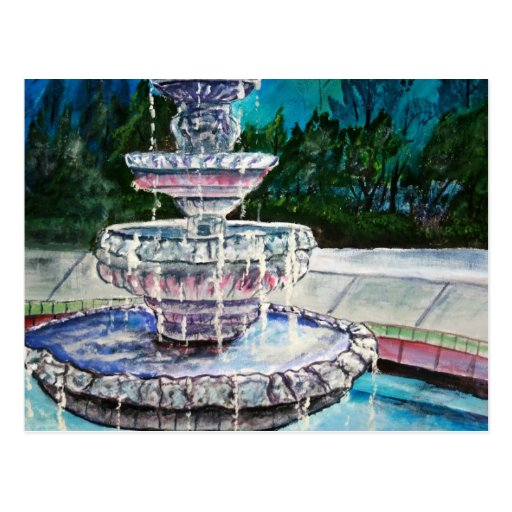 pintura de acrílico del arte moderno de la fuente  postales