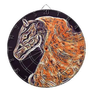 Pintura de acrílico del caballo de Digitaces Tablero De Dardos