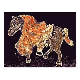 Pintura de acrílico del caballo de Digitaces Tarjetas Postales