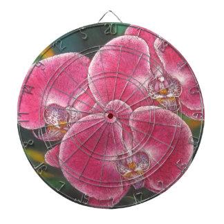 Pintura de acrílico del Phalaenopsis de las flores Tablero De Dardos