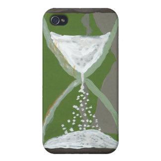 Pintura de acrílico del reloj de arena iPhone 4 carcasas