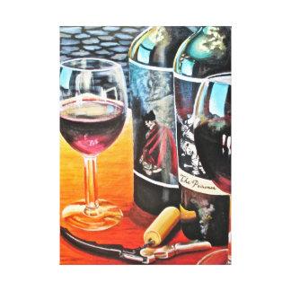 Pintura de acrílico del vino impresión en lienzo