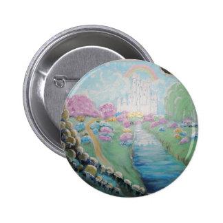 Pintura de acrílico original de la tierra de la pin redondo 5 cm