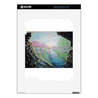Pintura de acrílico original de la tierra de la iPad 2 skin