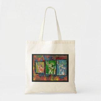 Pintura de acrílico original del estilo máximo de bolsa tela barata
