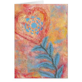 Pintura de acrílico original hecha en tarjeta de