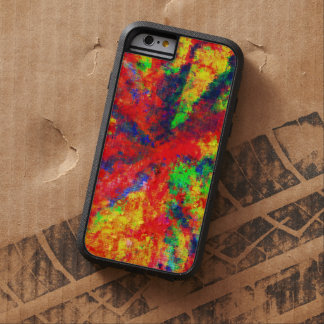 Pintura de acrílico psicodélica en lona funda para  iPhone 6 tough xtreme