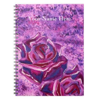 Pintura de acrílico violeta azul preciosa de los libretas