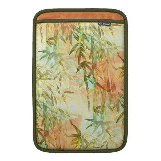 Pintura de bambú del bosque fundas MacBook