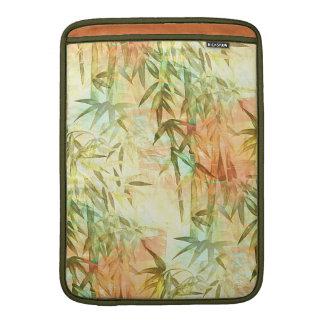 Pintura de bambú del bosque fundas macbook air