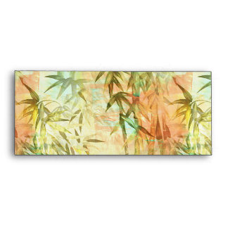 Pintura de bambú del bosque sobre