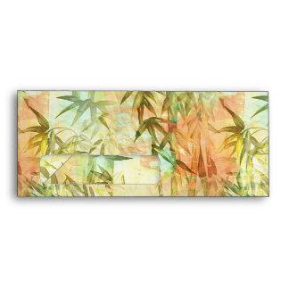 Pintura de bambú del bosque sobres