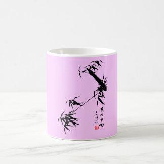 Pintura de bambú del cepillo taza clásica