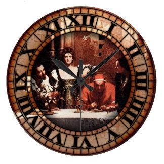 Pintura de Borgias Reloj Redondo Grande