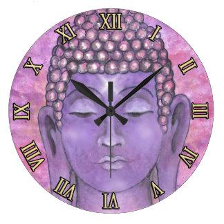 Pintura de Buda Reloj Redondo Grande