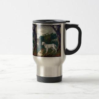 Pintura de bull terrier - bella arte del vintage taza