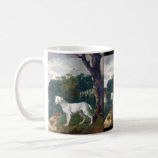 Pintura de bull terrier - bella arte del vintage tazas de café