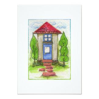 Pintura de casa colorida de la acuarela anuncios