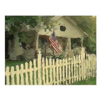 Pintura de casa de la tierra de Beulah Postal