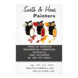 Pintura de casa de los pintores del decorador de i tarjetas publicitarias