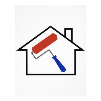 Pintura de casa membrete a diseño