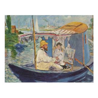Pintura de Claude Monet - Eduardo Manet Tarjeta Postal