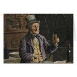 Pintura de consumición de la cerveza tarjeta de felicitación