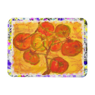 pintura de cosecha propia del goteo de los tomates imanes de vinilo