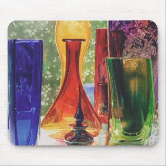 """Pintura de cristal de la acuarela del arte de """"Sun Alfombrillas De Ratones"""