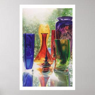 """Pintura de cristal de la acuarela del arte de """"Sun Impresiones"""