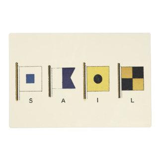 Pintura de cuatro banderas con la vela escrita tapete individual