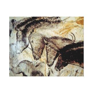 Pintura de cuevas de caballos en lona impresión en lienzo