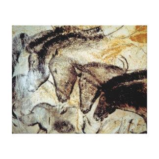 Pintura de cuevas de caballos en lona lienzo envuelto para galerias
