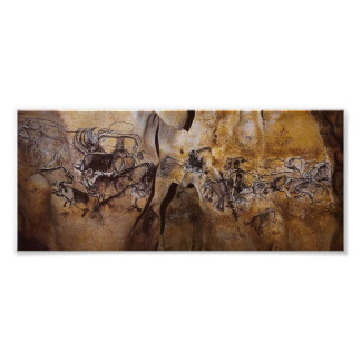 Pintura de cuevas de Chauvet Poster