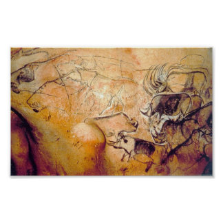 Pintura de cuevas de Chauvet Póster