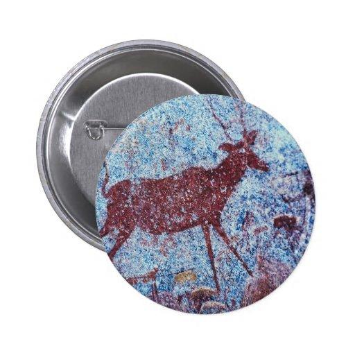 Pintura de cuevas de Drakensberg Pin Redondo 5 Cm