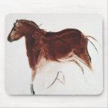 Pintura de cuevas del caballo salvaje del vintage tapete de raton