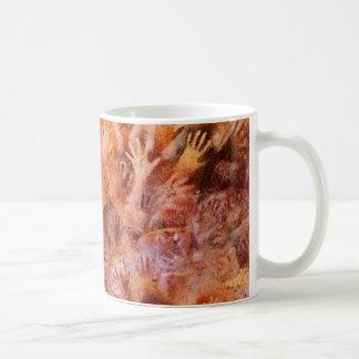 Pintura de cuevas prehistórica de la taza de café